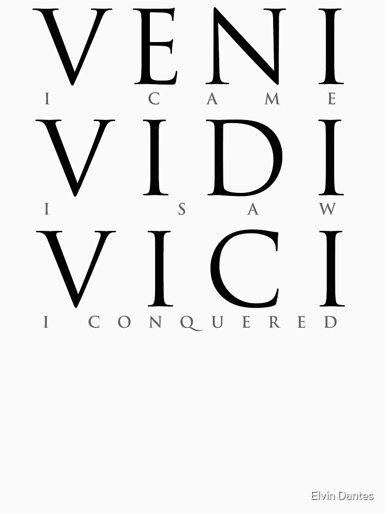 Veni Vidi Vici (I Came I Saw I Conquered) by elvindantes