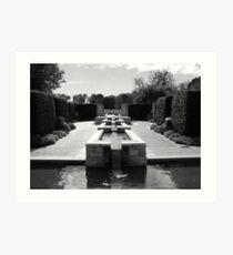 Dallas Arboretum Fountain Art Print