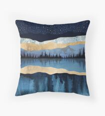 Midnight Lake Throw Pillow