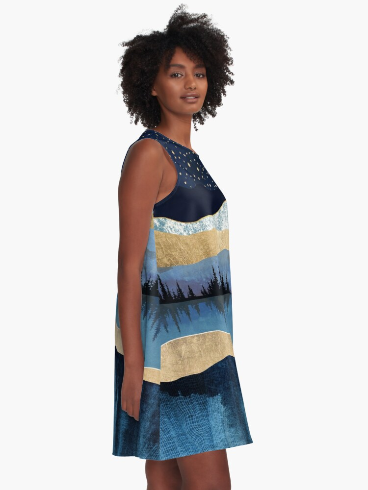Alternate view of Midnight Lake A-Line Dress