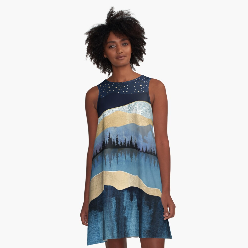 Midnight Lake A-Line Dress