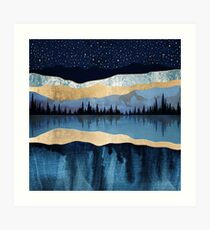 Midnight Lake Art Print
