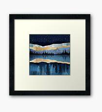 Midnight Lake Framed Print