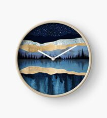 Midnight Lake Clock