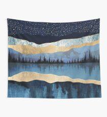 Midnight Lake Wall Tapestry