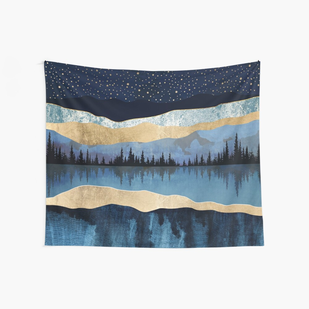 Midnight Lake Wall Tapestry