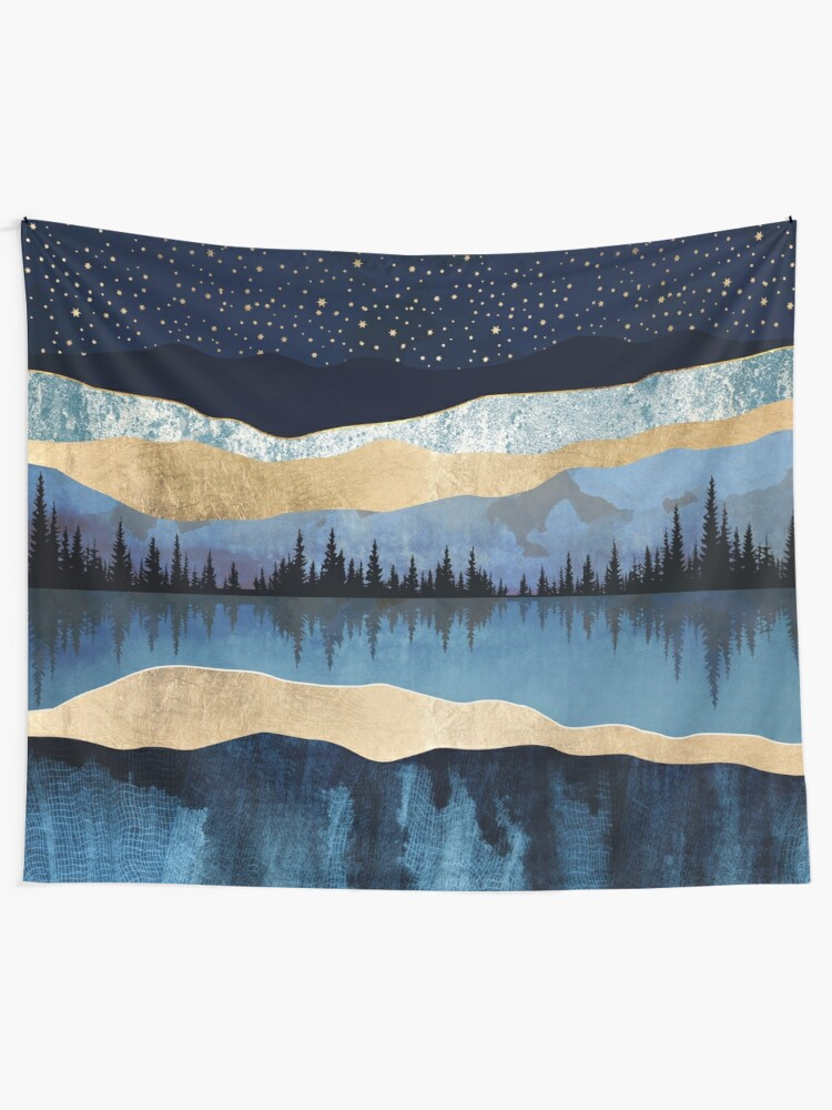 Alternate view of Midnight Lake Wall Tapestry