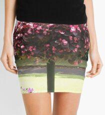 Pink Flower Tree Mini Skirt