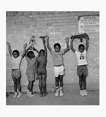 KIDS AGAINST THE WALL Photographic Print