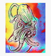 Watercolor Octopus Photographic Print