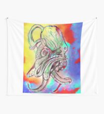 Watercolor Octopus Wall Tapestry