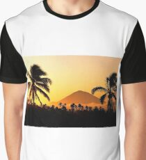 Bali Indonesia Gunung Agung Sunset Graphic T-Shirt