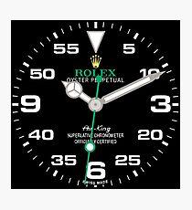 Rolex Air-King Face - 116900 - Black Dial Photographic Print