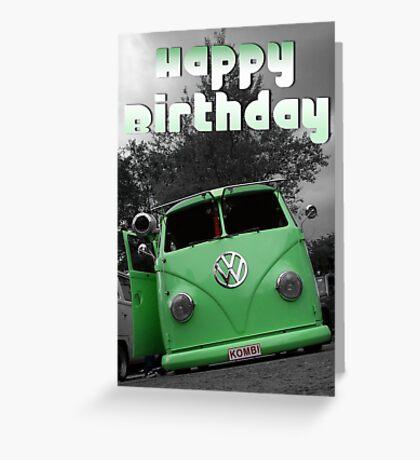 Volkswagen Kombi Happy Birthday Greeting Card