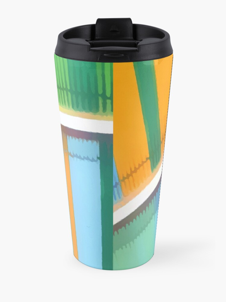 Alternate view of Individuality #abstract #popart #buyartprints #redbubble Travel Mug