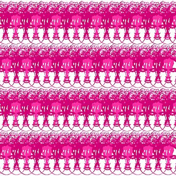 Frida Pattern Pink by Mo-Studio