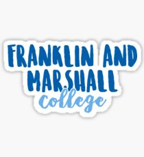 Franklin and Marshall College Sticker