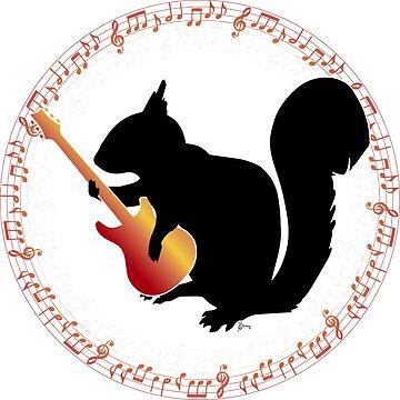 Rocker Squirrel by LOrnamentalArt