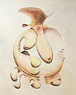 "Irregular Feminine Vase - watercolor - 8"" x 10"" by Dave Martsolf"