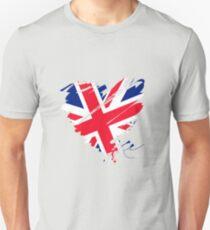 Great Britain England Football London Manchester Heart Unisex T-Shirt