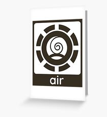 Air Element Design Nature Gift Idea Greeting Card
