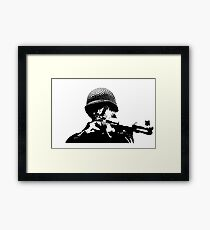 """WWII Paratrooper """"PING"""" Framed Print"""