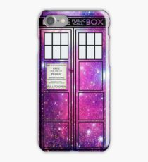 Starry Police Public Call Box. iPhone Case/Skin
