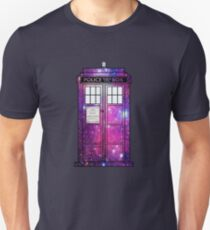 Starry Police Public Call Box. Unisex T-Shirt