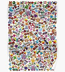 Many little toys - toy pattern Poster