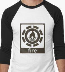 Fire Elements Design Nature Gift Idea Men's Baseball ¾ T-Shirt