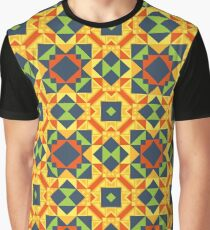geometry triangle polygon structure seamless colorful repeat pattern Graphic T-Shirt