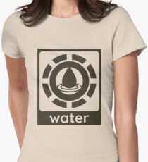 Water Element Design Nature Gift Idea Women's Fitted T-Shirt