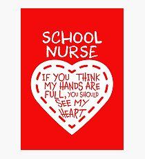 School Nurse Photographic Print