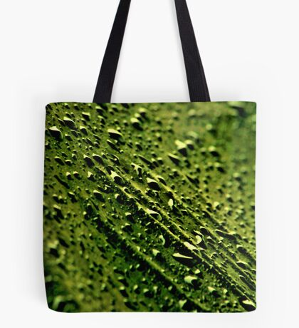Backyard Black Rain Tote Bag