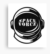 USA Merica Space Force Astronaut Helmet Canvas Print