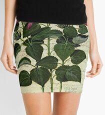 Italian Hibiscus Vintage Botanical  Mini Skirt