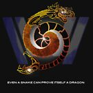 Westworld Armistice & Hanaryo: Snake and Dragon Tattoo Design by PurpleMoose