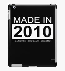 Made In 2010 Limited Edition Legend - Born in 2010  iPad-Hülle & Skin