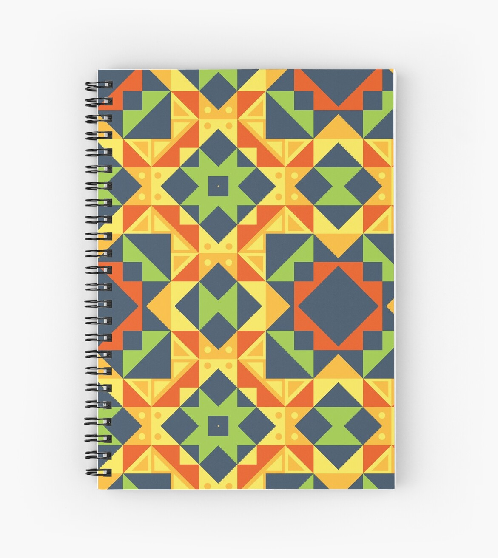 Cuadernos De Espiral Diseño De Formas Geométricas Color De