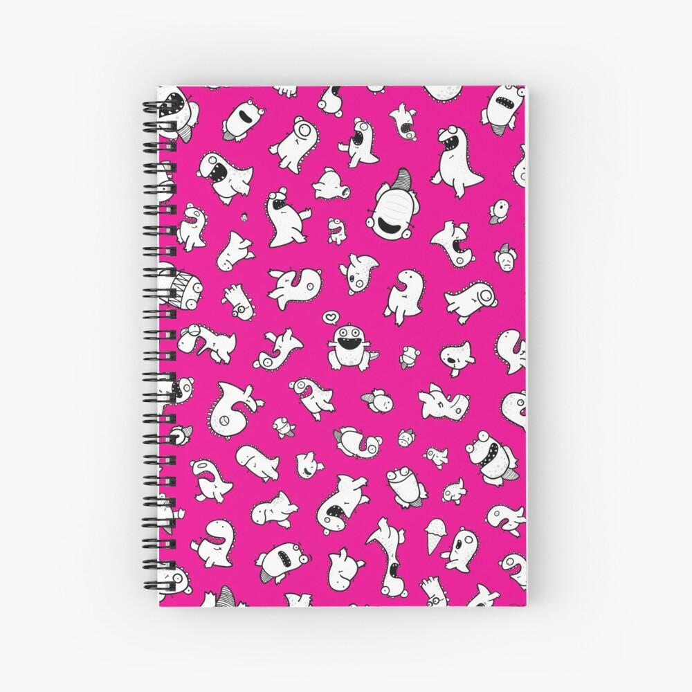 Dino-mite! (Magenta) Spiral Notebook