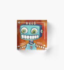 Robot Hugs This Way =====> Acrylic Block