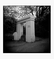 Georgian gateway - Holga - Lomography Photographic Print