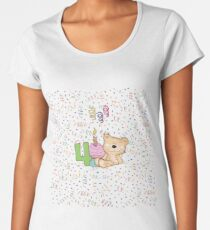 Bears 4th Birthday Women's Premium T-Shirt