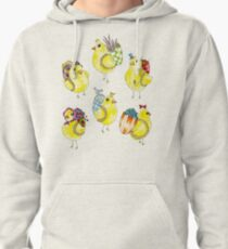 Easter Chicks & Eggshell Baskets Pullover Hoodie