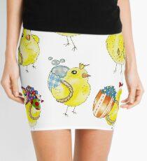 Easter Chicks & Eggshell Baskets Mini Skirt