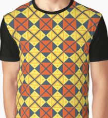 triangle design pictures lines geometric illustration seamless colorful repeat pattern Graphic T-Shirt