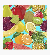 fruits pattern Photographic Print