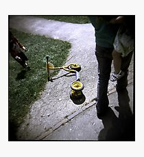 Discarded yellow scooter - Lomography - Holga Photographic Print