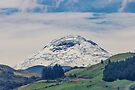 Mount Chimborazo snow-covered mountain by Kendall Anderson