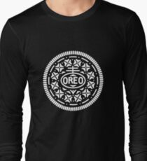 Oreo Cookie Symbol (White) Long Sleeve T-Shirt